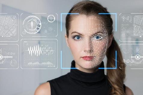 Moça no reconhecimento facial FindFace Security