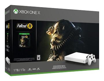 O Xbox One X na caixa
