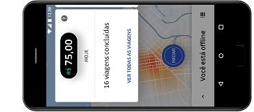 Smartphne  om funcionalidade app da uBER