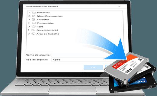 Notebook fazendo Backup de Dados