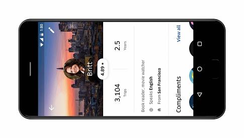 smartphne com app Uber