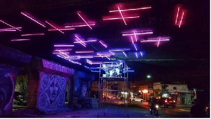 Instalação BioLumen mostra da série Hack The City