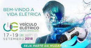 Banner da feira Veículo Elétrico Latino Americano