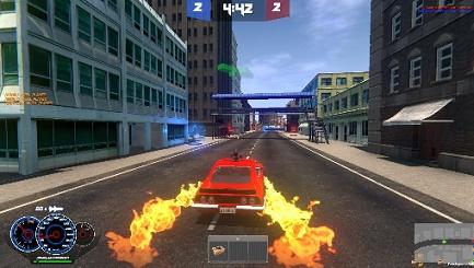 Carro na pista cena do game Deliverace