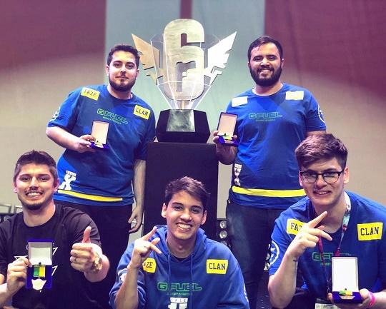 Equipe FaZe de gamers de Rainbow Six