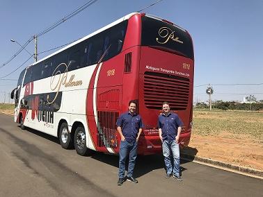 Trazeira do Primeiro onibus ADAS Scania