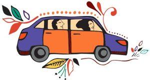 carro Uber desenho fantasia evento de mobilidade
