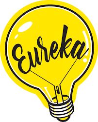 Lâmpada símbolo de ideia  Eureka