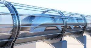 O Hyperloop trafegando dentro do tubo