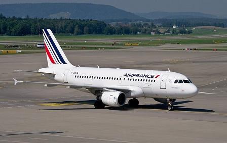 Avião da Airfrance conectado com Global Eagle
