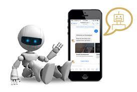 robô e smartphone chatbots em contact center