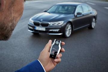 estacionamento por controle remoto BMW