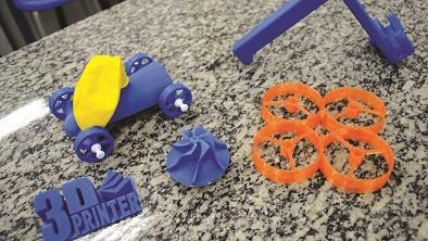 Péças feitas por impressora 3D