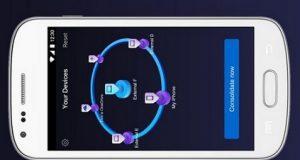 Smartphone com app da Nero