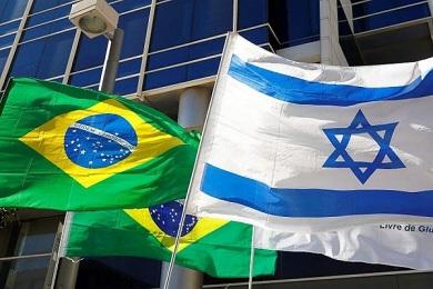 Bandeiras do Brasil e Israel parceiros em INDÚSTRIA 4.0