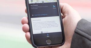 Smartphone como o app HERE WeGo