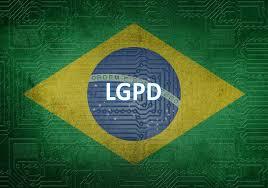 Bandeira do Brasil e a sigla LGPD