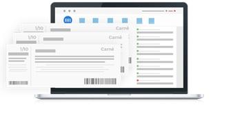Notebook com programa de fintech