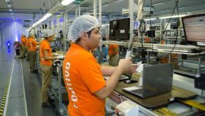 Interior fábrica Positivo Tecnologia