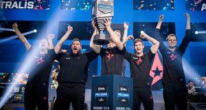 Equipe Astralis vencedora do Intel Grand Slam