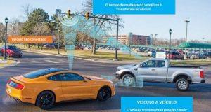Veículos se comunicando com a C-V2X
