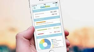 Smartphone com app GuiaBolso