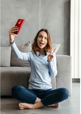 Fazendo selfie com Celular Positivo