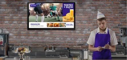 Sala com TV digital Samsung