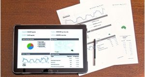 Tablet com tecnoligia CRM