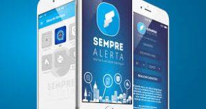 Smartphones com app Sempre Alerta
