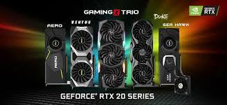 Várias opções do NVIDIA RTX