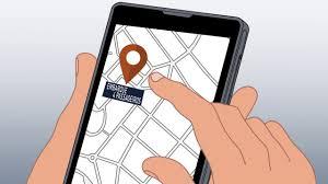 smartphone com o 4 feet aplicativo de carro