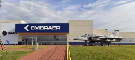 Planta da Embraer projeto Jatos Gripen