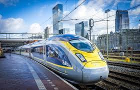 Trem Eurostar em movimento