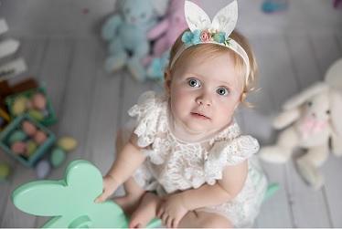 bebê fotografia na páscoa