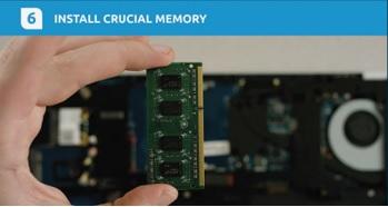 instalar memória Crucial