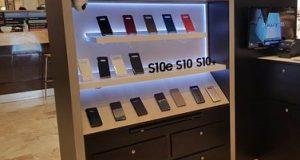 Modelo dos quiosques Samsung
