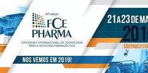 Banner da feira FCE Pharma