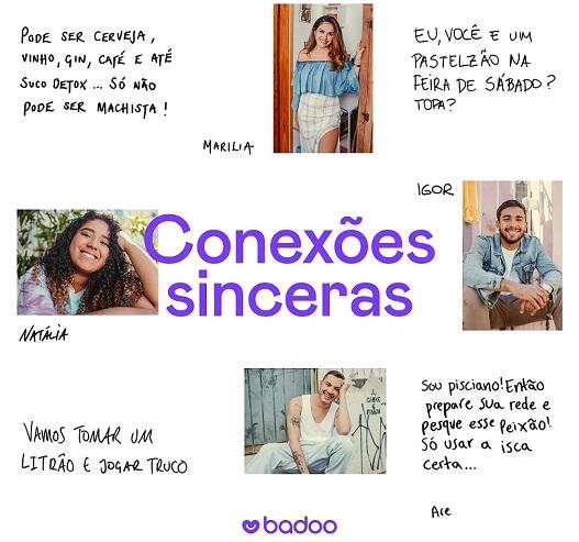 Banner Conexões sinceras Badoo