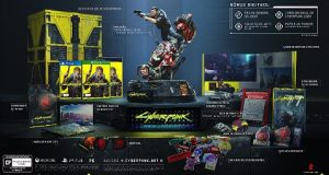 Caixa com o game Cyberpunk 2077