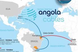 Mapa com abrangência da Angola Cables cloud