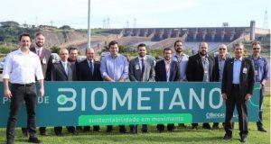 Posto de Biometano com autoridades