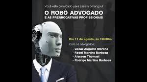 Robô advogado software jurídico