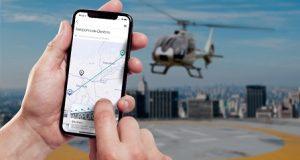 Smartphone com app da Voom