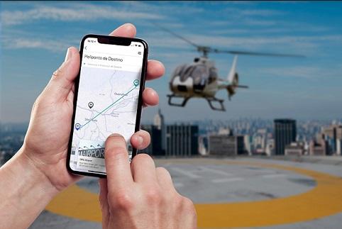 aplicativo helicóptero da Voom