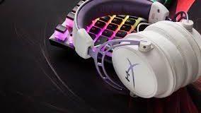 headset branco