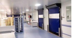 Portas Rayaflex para salas limpas
