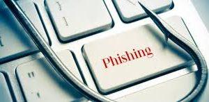 Teclado com tecla phishing