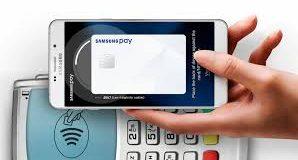 Smartphone com Samsung pay