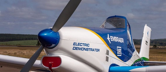 Avião elétrico Weg Embraer